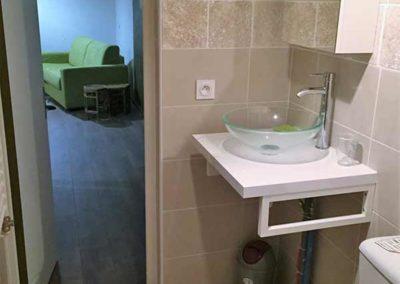 Gîte Argelès Mon Fare Bambou salle d'eau